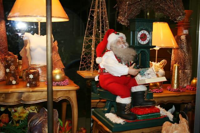 La vitrine du Père Noel