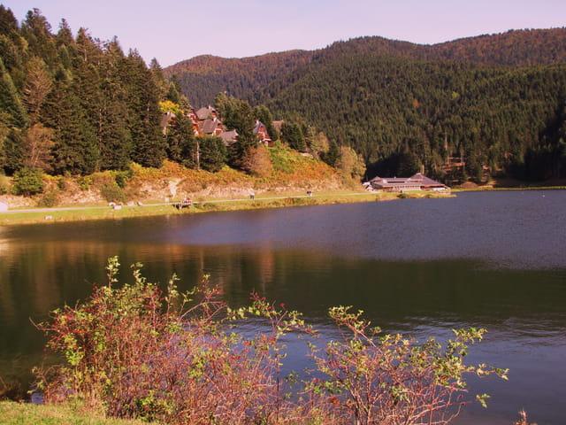 Lac de Payolle en automne.