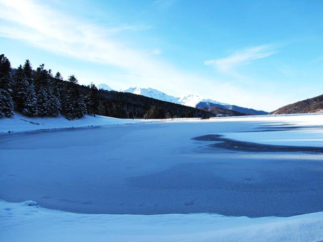 Lac de Payolle gelé.