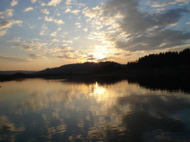 Lac Saint Point coucher de soleil