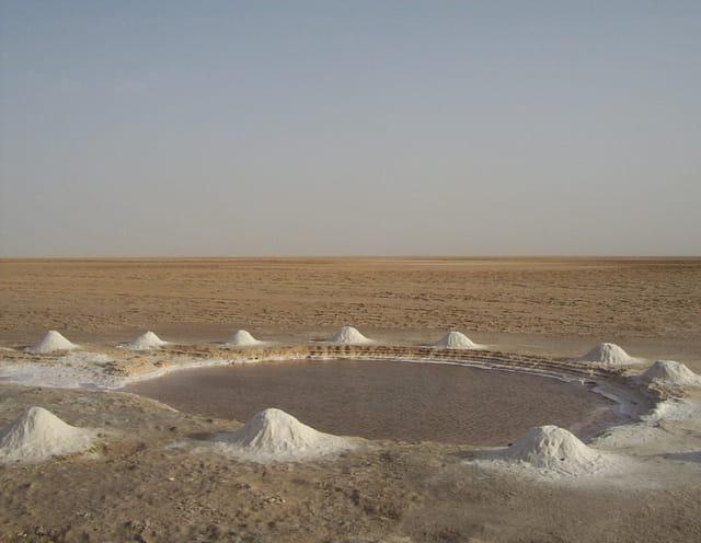 Lac salé en tunisie