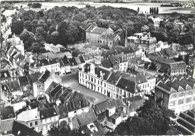 Lannoy - Quartier de la Mairie vu d'avion