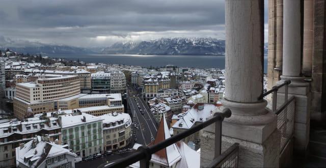 Lausanne, l'hiver