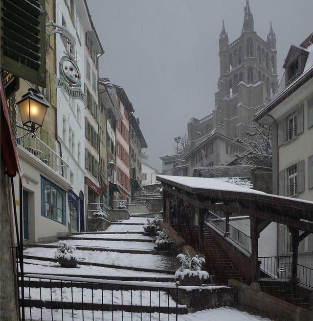 Lausanne, les Escaliers-du-Marché