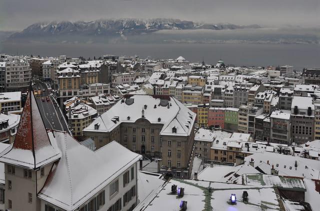 Lausanne sous la neige.