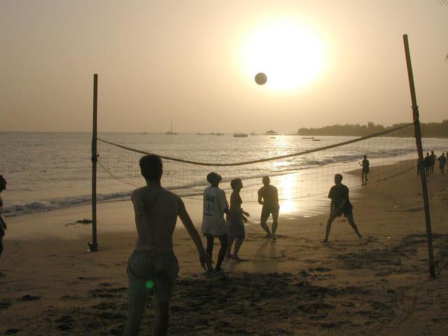 Le ballon de volley en lune