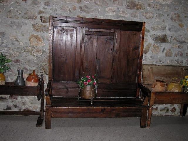 Le banc de bois