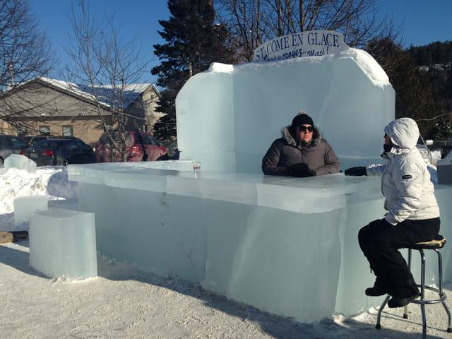 Le bar de glace