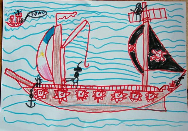 Le bateau du pirate romain 6 ans