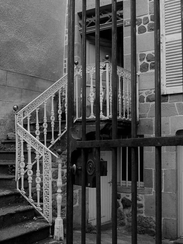 Le Cantal en noir et blanc