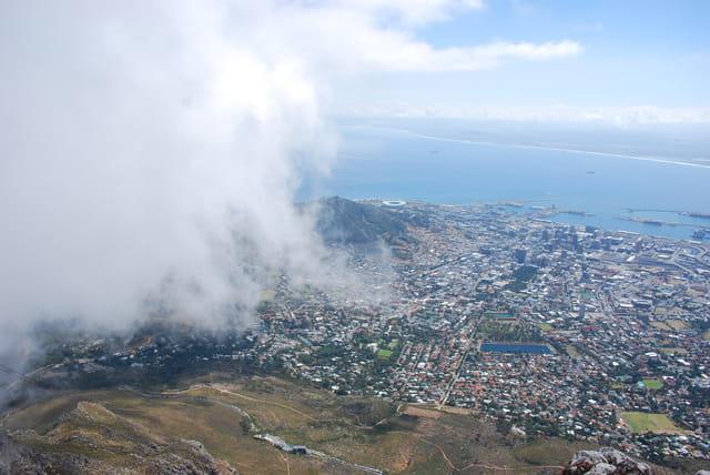 Le Cap sous le nuage