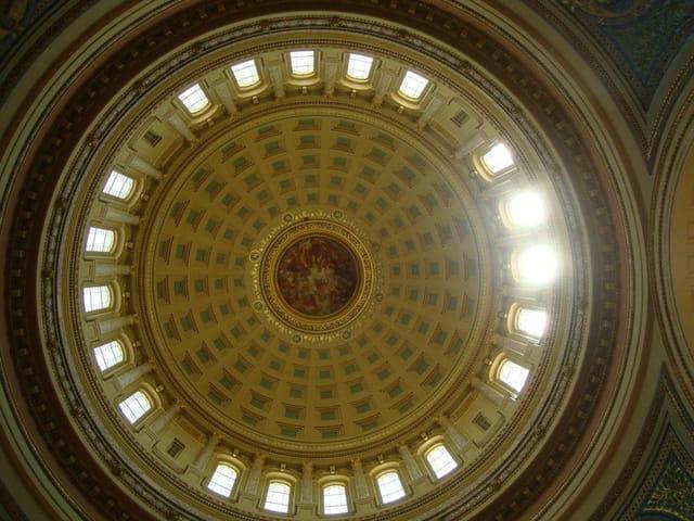 Le Capitole vu de l'intérieur, Madison,Wisconsin