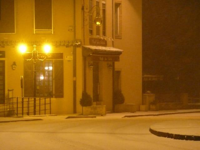 Le centre sous la neige