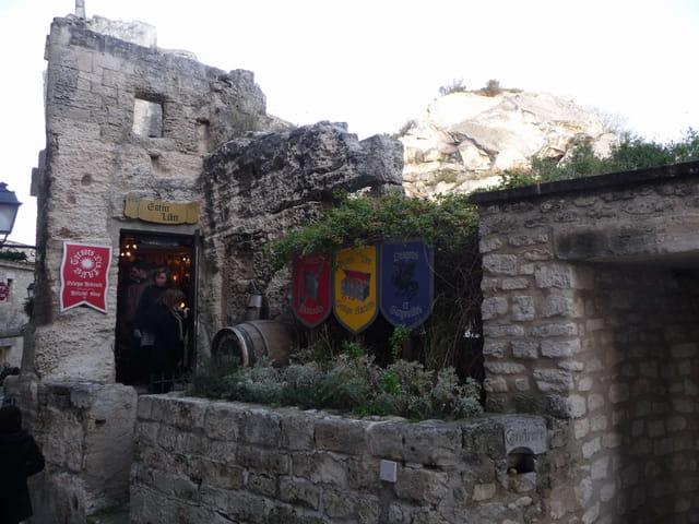 Le château  des Baux de Provence.