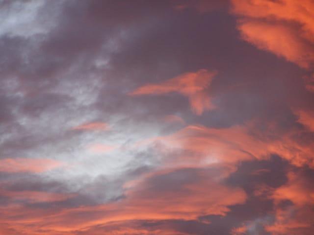 Le ciel enflammé