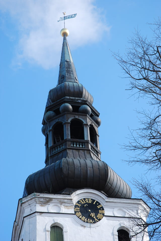 le clocher bulbe de l' église du Dôme