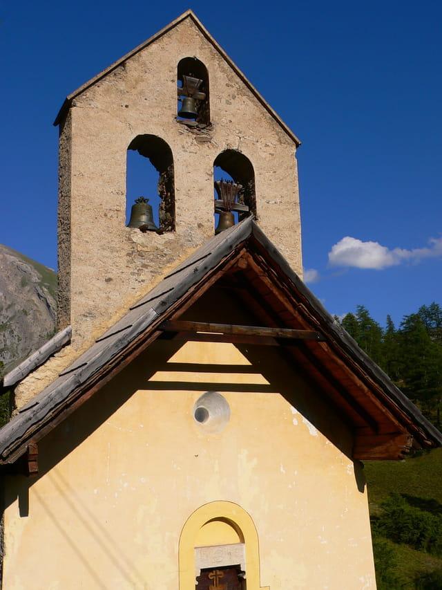 Le clocher de la chapelle de Fouillouse
