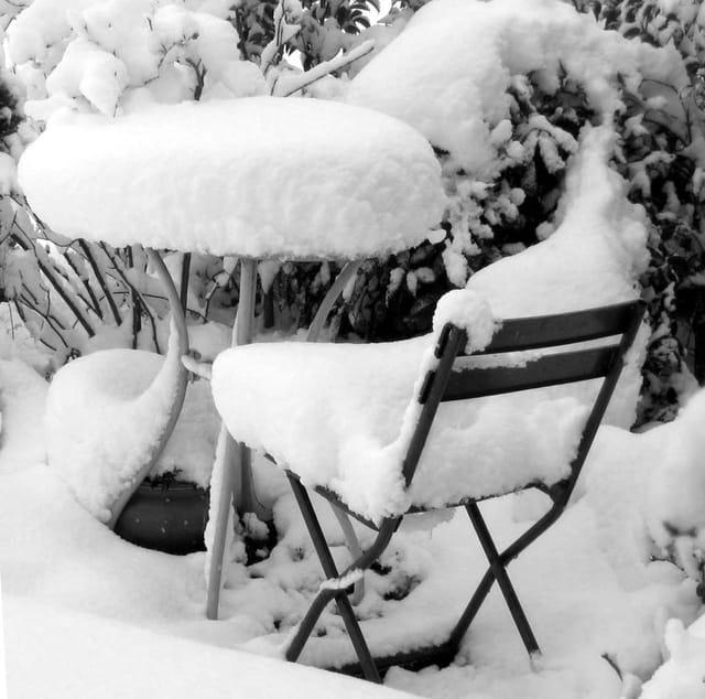 Le coin de l'écrivain en hiver