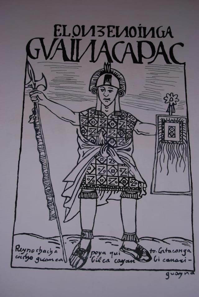 L'indien GUAINACAPAC, chef Inca
