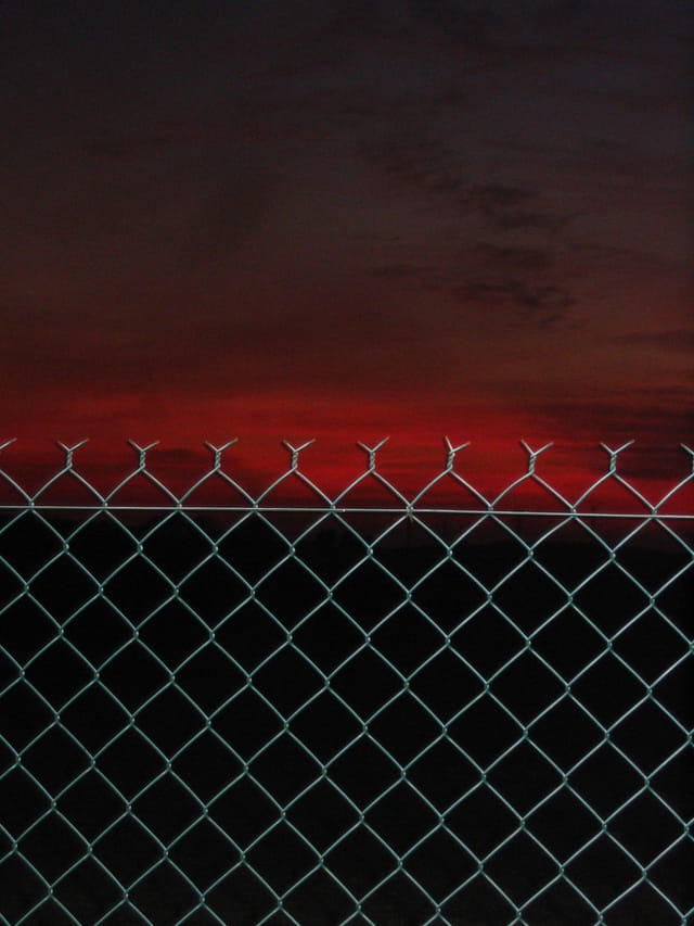Le coucher de soleil prit au piège