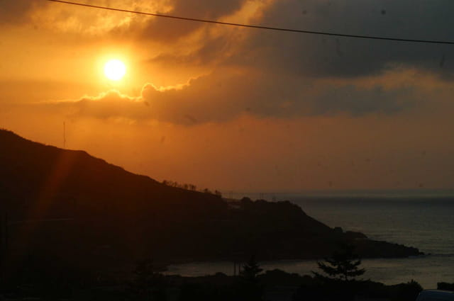 Le coucher de solaires