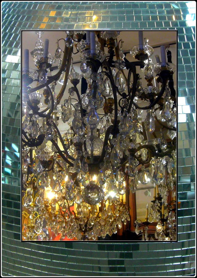 Le cristal d'un lustre