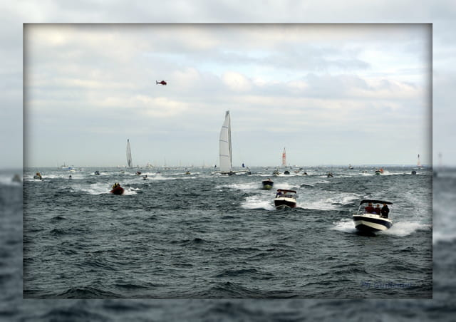 Le départ de la course du Rhum 2010