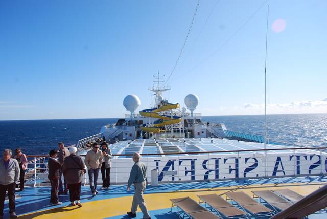le dernier pont du bateau Costa Séréna ( le 17°pont )