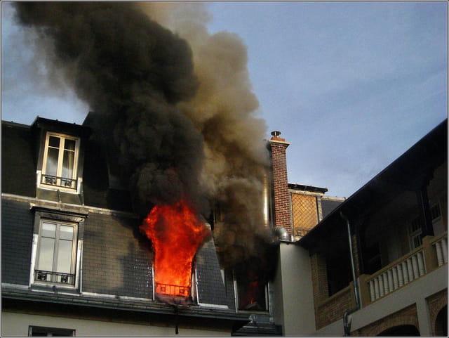 Le feu au 6 ème