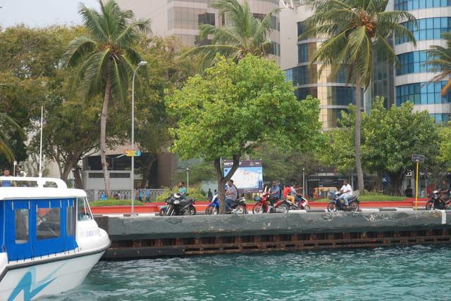 le front de mer à Malé