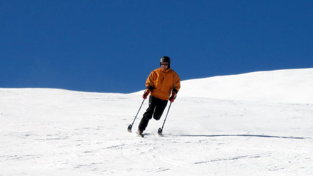 Le funambule version ski