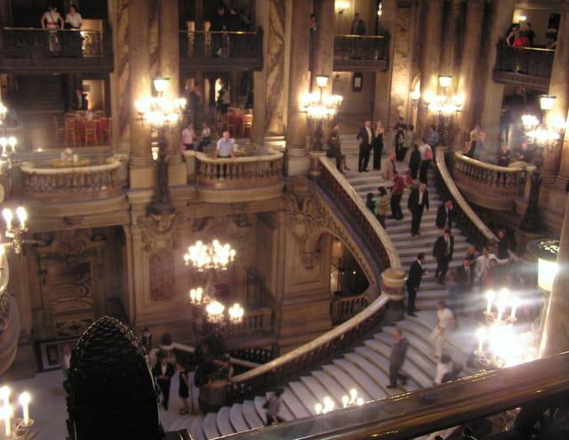 Le grand escalier de l'Opéra