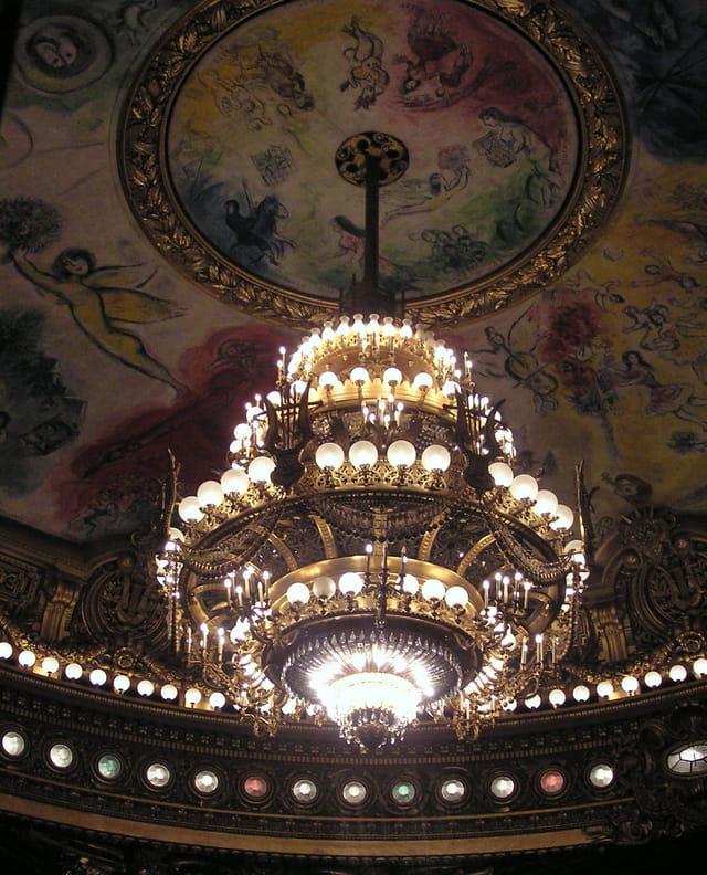 Le grand lustre de l'Opéra