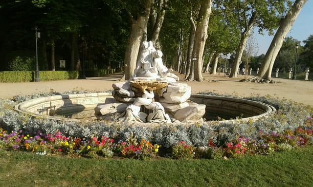 le jardin du château royal d'Aranjuez