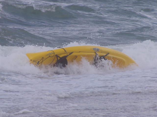 Le kayak rentre seul