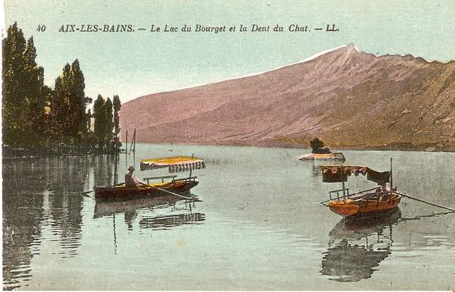 Le lac du Bourget et la dent du Chat