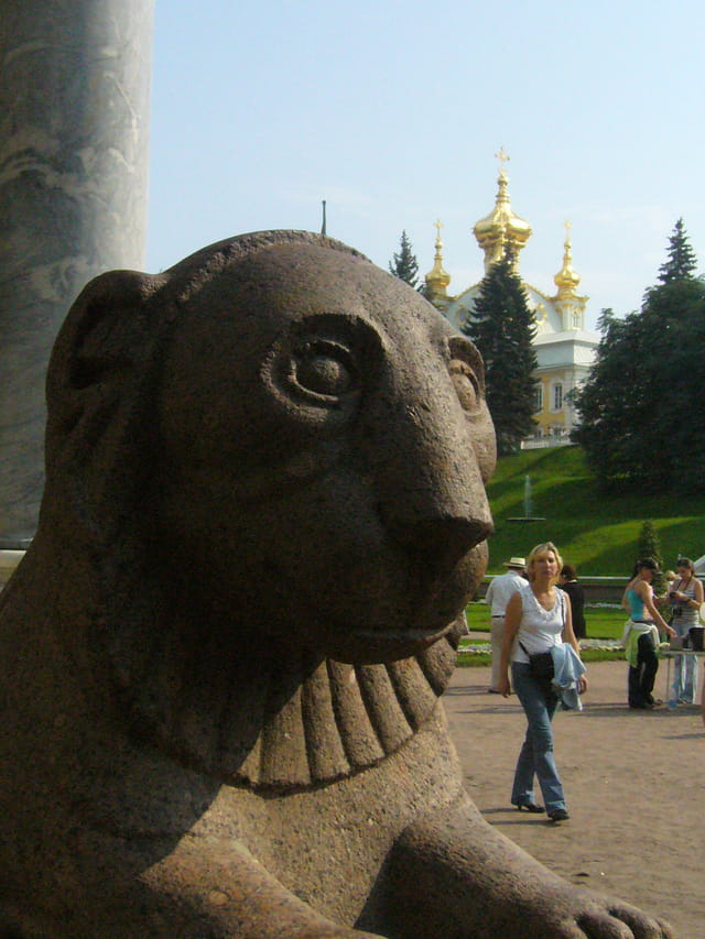 Le lion de Peterhof