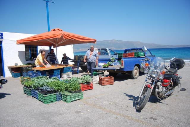 le marché en front de mer