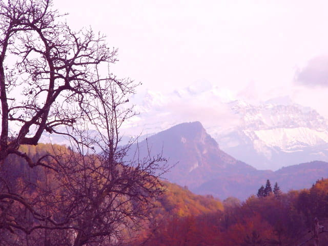 Le Mont Blanc en automne