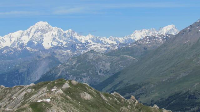 Le Mont-Blanc et les Grandes Jorasses