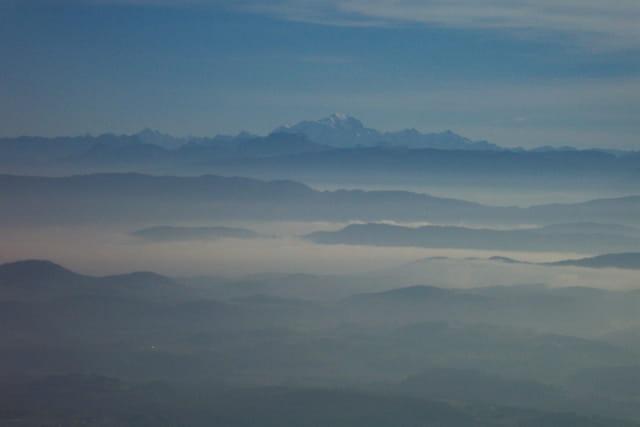 Le mont blanc vu d'innimont