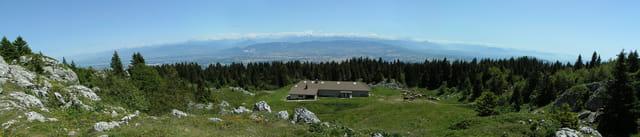 Le Mont Blanc vu depuis le Jura