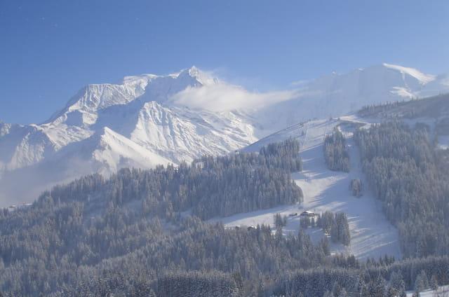 Le Mont Blanc vu du Mont d'Arbois (Megeve)