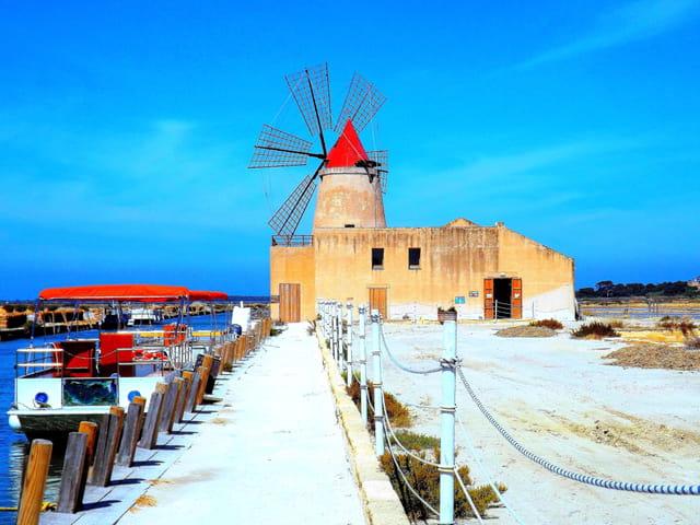 Le moulin de Trapani en Sicile