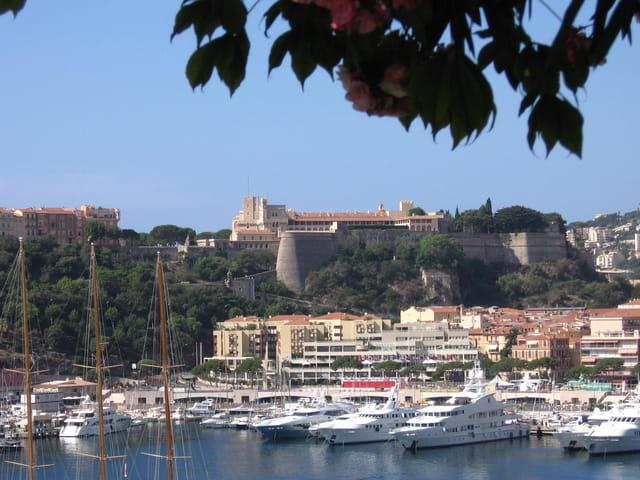 Le palais princier et le port