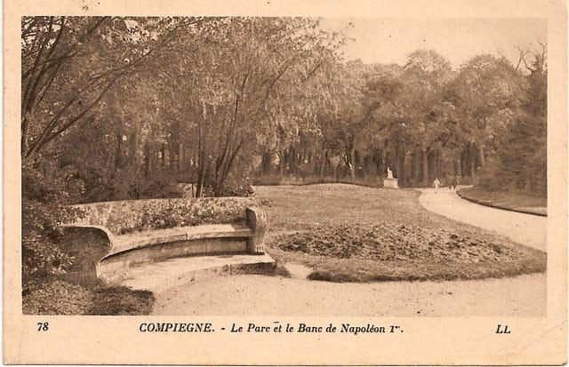 Le parc et le banc Napoléon 1er