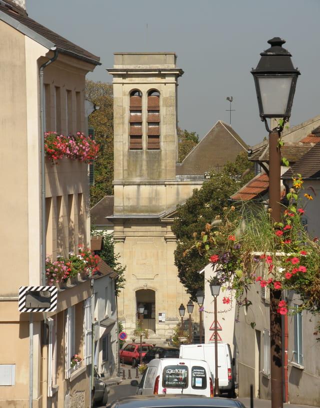 Le Pecq et l'église Saint-Wandrille