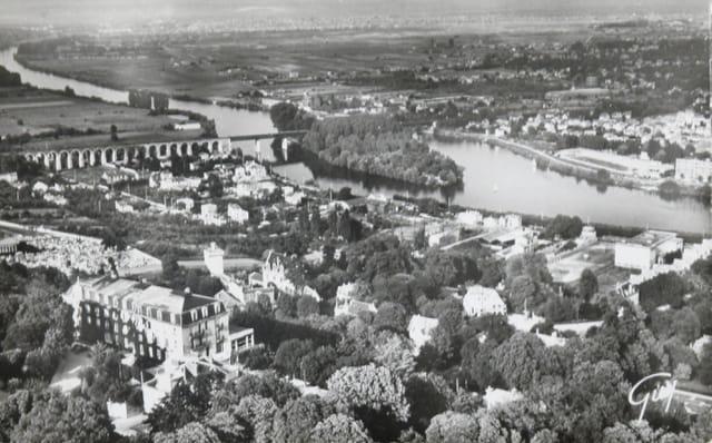 Le Pecq, vue d'avion 1950