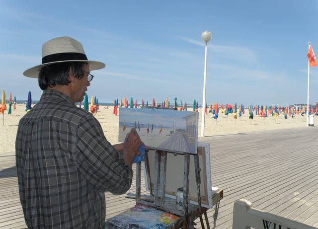 Le peintre et Les Planches de Deauville