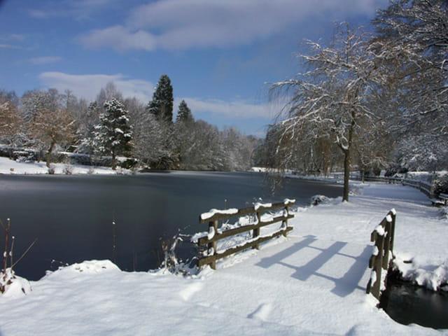 Le petit pont sous la neige